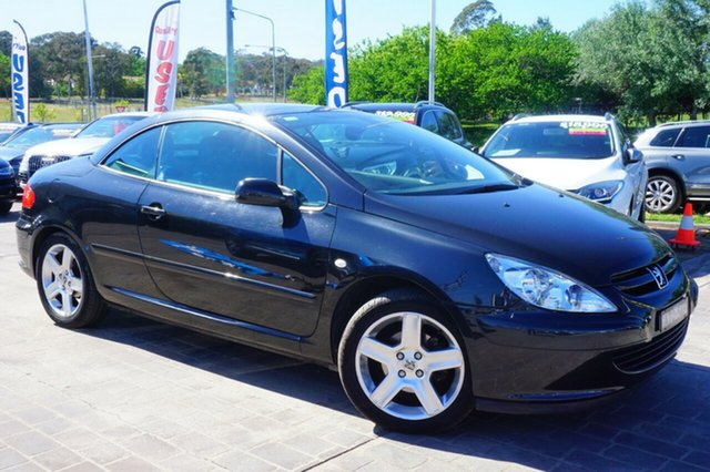 Used Peugeot 307 T6 CC Dynamic, 2005 Peugeot 307 T6 CC Dynamic Black 4 Speed Sports Automatic Cabriolet