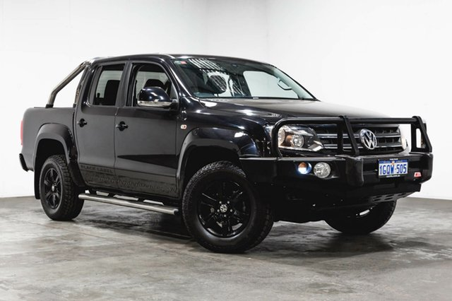 Used Volkswagen Amarok 2H MY15 TDI400 4Mot Highline, 2014 Volkswagen Amarok 2H MY15 TDI400 4Mot Highline Black 6 Speed Manual Utility