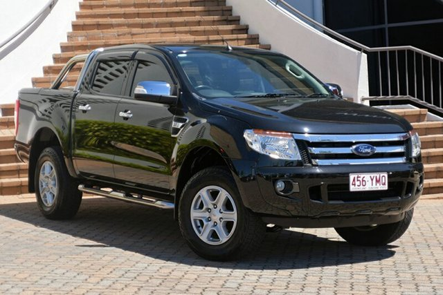 Used Ford Ranger PX XLT Double Cab 4x2 Hi-Rider, 2014 Ford Ranger PX XLT Double Cab 4x2 Hi-Rider Black 6 Speed Sports Automatic Utility