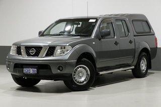 2011 Nissan Navara D40 MY11 RX (4x2) Grey 6 Speed Manual Dual Cab Pick-up.