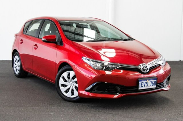 Used Toyota Corolla ZRE182R Ascent S-CVT, 2015 Toyota Corolla ZRE182R Ascent S-CVT Wildfire 7 Speed Constant Variable Hatchback