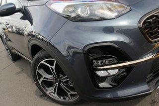 2020 Kia Sportage QL MY21 GT-Line AWD Mercury Blue 8 Speed Sports Automatic Wagon.