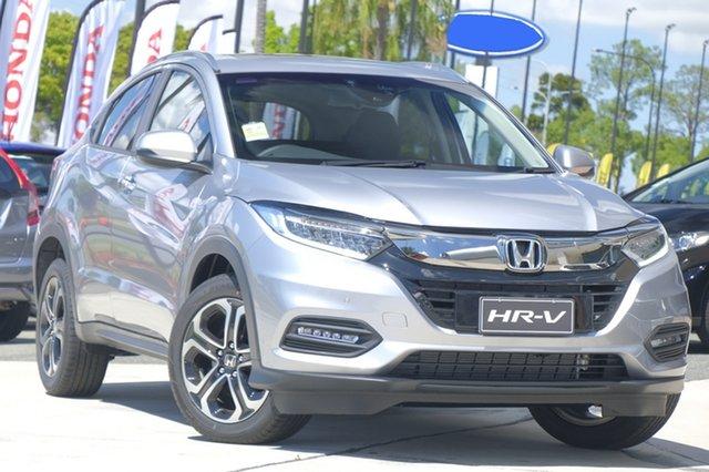 New Honda HR-V MY21 VTi-LX North Lakes, 2021 Honda HR-V MY21 VTi-LX Lunar Silver 1 Speed Constant Variable Hatchback
