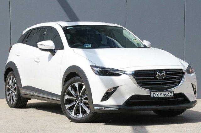 Demo Mazda CX-3 DK4W7A Akari SKYACTIV-Drive i-ACTIV AWD, 2018 Mazda CX-3 DK4W7A Akari SKYACTIV-Drive i-ACTIV AWD Snowflake White 6 Speed Sports Automatic
