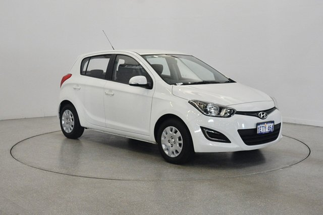 Used Hyundai i20 PB MY14 Active, 2014 Hyundai i20 PB MY14 Active White 4 Speed Automatic Hatchback