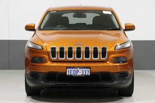 2014 Jeep Cherokee KL Sport (4x2) Orange 9 Speed Automatic Wagon.