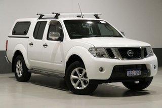 2014 Nissan Navara D40 MY12 ST-X (4x4) White 7 Speed Automatic Dual Cab Pick-up.