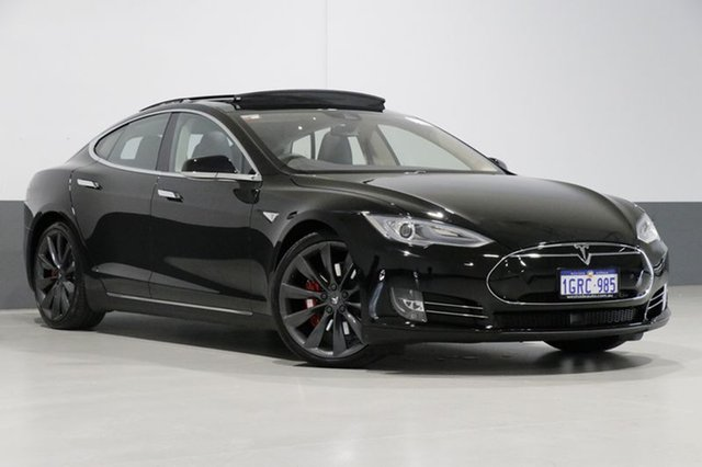 Used Tesla Model S  P85D, 2015 Tesla Model S P85D Black 1 Speed Automatic Hatchback