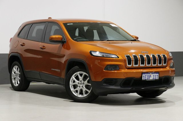 Used Jeep Cherokee KL Sport (4x2), 2014 Jeep Cherokee KL Sport (4x2) Orange 9 Speed Automatic Wagon