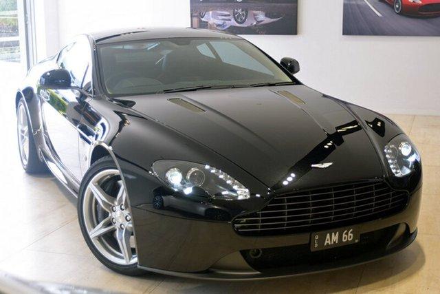 Used Aston Martin V8 MY16 Vantage Sportshift II, 2016 Aston Martin V8 MY16 Vantage Sportshift II Onyx Black 7 Speed Seq Manual Auto-Clutch Coupe