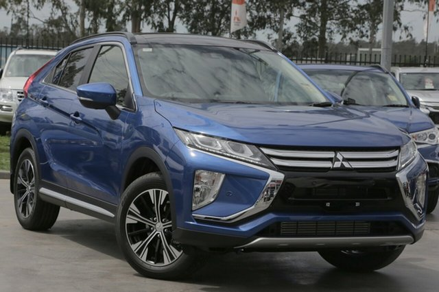 New Mitsubishi Eclipse Cross YA MY20 Exceed AWD Aspley, 2020 Mitsubishi Eclipse Cross YA MY20 Exceed AWD Lightning Blue 8 Speed Constant Variable Wagon