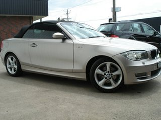2008 BMW 1 Series E88 120i Kaschmirsilber 6 Speed Automatic Convertible.