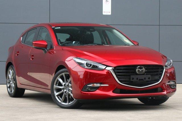 New Mazda 3 BN5438 SP25 SKYACTIV-Drive, 2018 Mazda 3 BN5438 SP25 SKYACTIV-Drive Soul Red Crystal 6 Speed Sports Automatic Hatchback