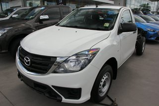 2018 Mazda BT-50 UR0YE1 XT 4x2 Cool White 6 Speed Manual Cab Chassis.