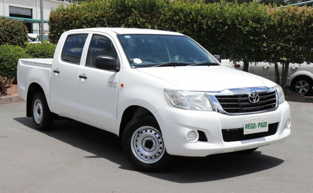 Used Toyota Hilux GGN15R MY12 SR Double Cab 4x2, 2013 Toyota Hilux GGN15R MY12 SR Double Cab 4x2 White 5 Speed Automatic Utility