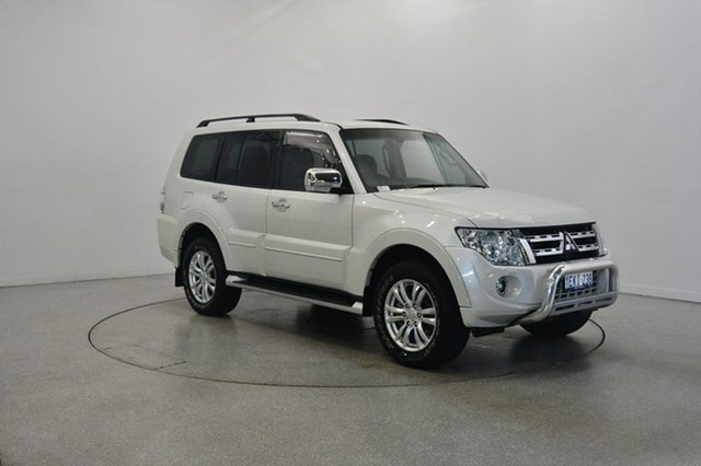 Used Mitsubishi Pajero NW MY14 Exceed, 2013 Mitsubishi Pajero NW MY14 Exceed Warm White 5 Speed Sports Automatic Wagon