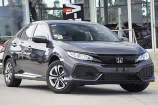2019 Honda Civic 10th Gen MY19 VTi Modern Steel 1 Speed Constant Variable Hatchback.