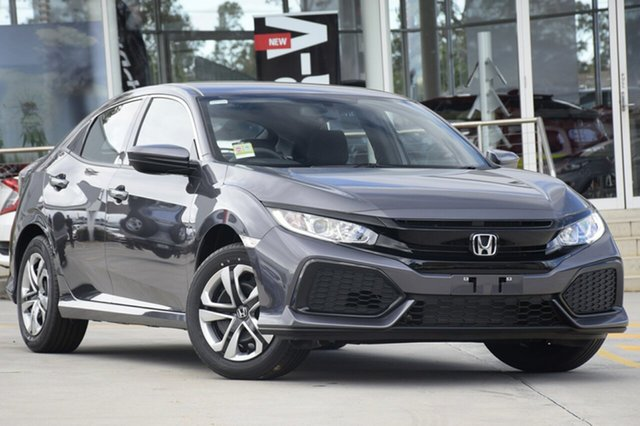 New Honda Civic 10th Gen MY18 VTi, 2018 Honda Civic 10th Gen MY18 VTi Modern Steel 1 Speed Constant Variable Hatchback