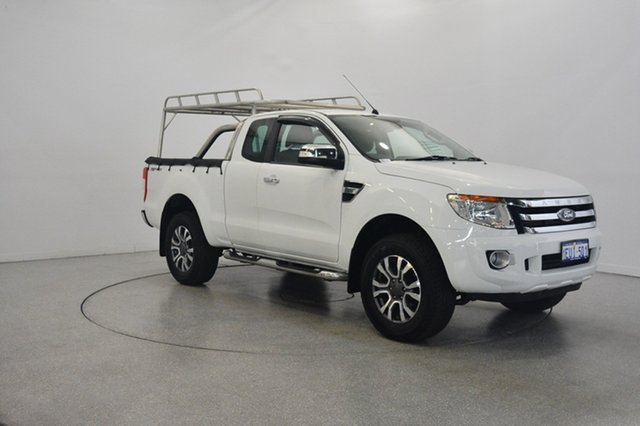 Used Ford Ranger PX XLT Super Cab 4x2 Hi-Rider, 2015 Ford Ranger PX XLT Super Cab 4x2 Hi-Rider White 6 Speed Sports Automatic Utility