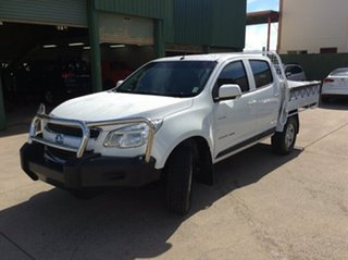 2014 Holden Colorado RG MY14 LX Crew Cab White 6 Speed Manual Cab Chassis