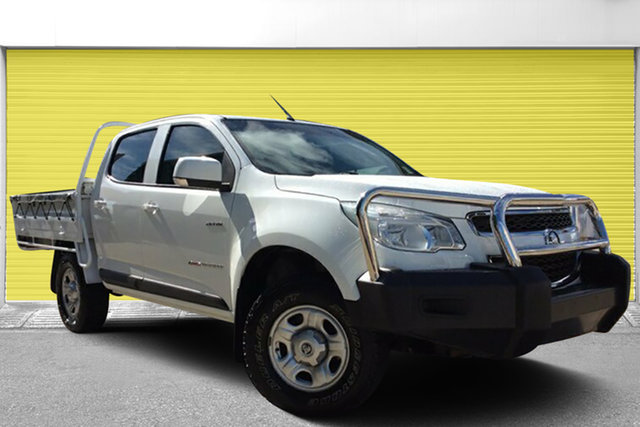 Used Holden Colorado RG MY14 LX Crew Cab, 2014 Holden Colorado RG MY14 LX Crew Cab White 6 Speed Manual Cab Chassis