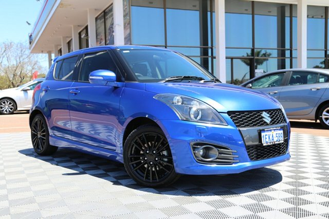 Used Suzuki Swift FZ MY14 Sport, 2014 Suzuki Swift FZ MY14 Sport Boost Blue 7 Speed Constant Variable Hatchback