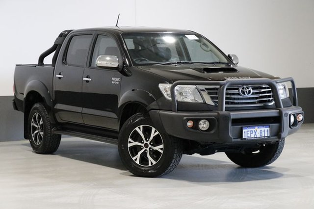 Used Toyota Hilux KUN26R MY14 SR5 (4x4), 2014 Toyota Hilux KUN26R MY14 SR5 (4x4) Black 5 Speed Automatic Dual Cab Pick-up