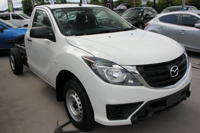 New Mazda BT-50 UR0YE1 XT 4x2, 2018 Mazda BT-50 UR0YE1 XT 4x2 Cool White 6 Speed Manual Cab Chassis