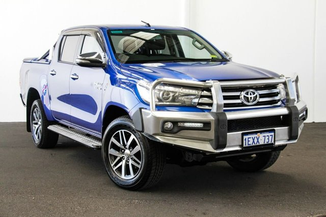 Used Toyota Hilux GUN126R SR5 Double Cab, 2015 Toyota Hilux GUN126R SR5 Double Cab Nebula Blue 6 Speed Sports Automatic Utility