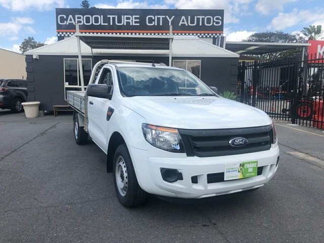 Used Ford Ranger  4x2, 2012 Ford Ranger PX XL  4x2 White Manual Cab Chassis