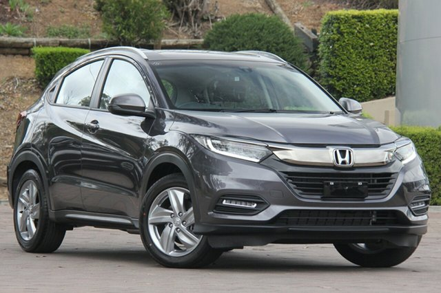 New Honda HR-V MY21 VTi-S Indooroopilly, 2021 Honda HR-V MY21 VTi-S Modern Steel 1 Speed Constant Variable Hatchback