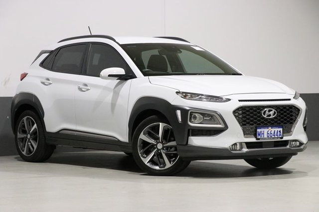 Used Hyundai Kona OS Highlander (FWD), 2017 Hyundai Kona OS Highlander (FWD) White 6 Speed Automatic Wagon