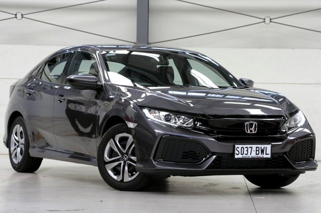 Demo Honda Civic 10th Gen MY18 VTi, 2018 Honda Civic 10th Gen MY18 VTi Modern Steel 1 Speed Constant Variable Hatchback