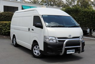 2013 Toyota HiAce KDH221R MY12 Super LWB French Vanilla 4 Speed Automatic Van.