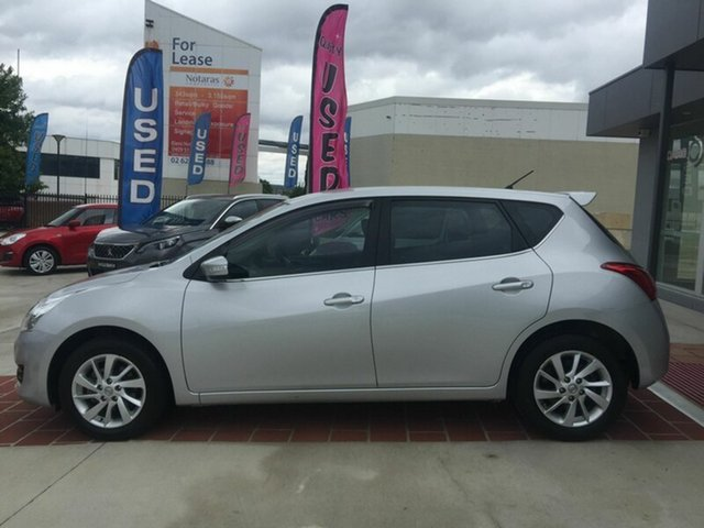 Used Nissan Pulsar C12 ST-L, 2014 Nissan Pulsar C12 ST-L Silver 1 Speed Constant Variable Hatchback