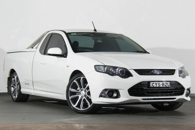 Used Ford Falcon FG MkII XR6 Ute Super Cab Limited Edition, 2012 Ford Falcon FG MkII XR6 Ute Super Cab Limited Edition Winter White 6 Speed Sports Automatic