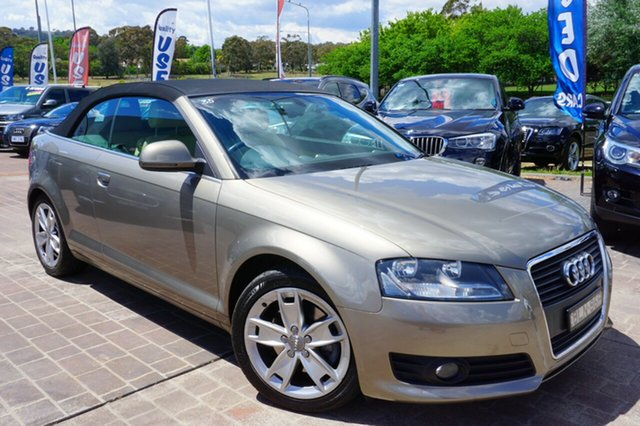 Used Audi A3 8P MY10 TFSI S tronic Ambition, 2009 Audi A3 8P MY10 TFSI S tronic Ambition Beige 6 Speed Sports Automatic Dual Clutch Convertible