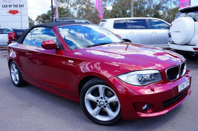 Used BMW 120i E88 LCI MY1112 Steptronic, 2013 BMW 120i E88 LCI MY1112 Steptronic Red 6 Speed Sports Automatic Convertible
