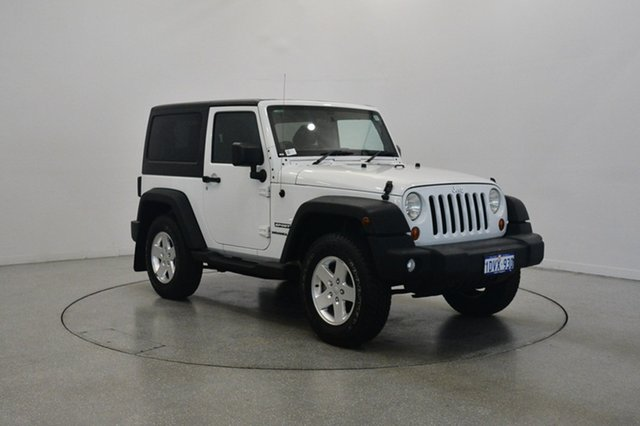 Used Jeep Wrangler JK MY2010 Sport, 2011 Jeep Wrangler JK MY2010 Sport Bright White & Black 6 Speed Manual Softtop