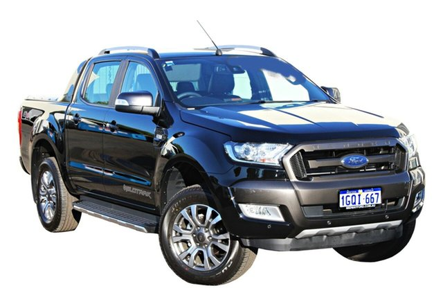 Demo Ford Ranger  Wildtrak Double Cab, 2018 Ford Ranger PX MKII 2018.00 Wildtrak Double Cab Shadow Black 6 Speed Sports Automatic Utility