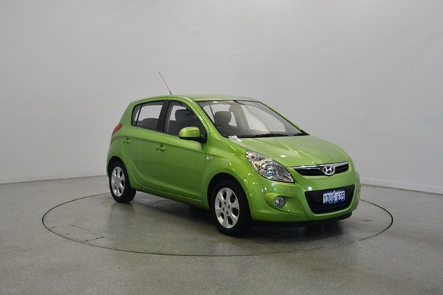 Used Hyundai i20 PB MY11 Elite, 2011 Hyundai i20 PB MY11 Elite Electric Green 4 Speed Automatic Hatchback