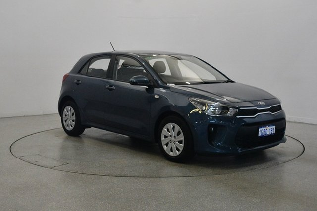 Used Kia Rio YB MY18 S, 2017 Kia Rio YB MY18 S Smoke Blue 4 Speed Sports Automatic Hatchback