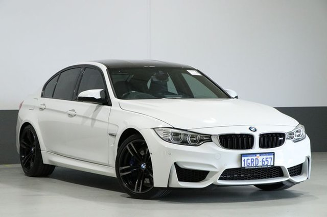 Used BMW M3 F80 LCI , 2015 BMW M3 F80 LCI White 7 Speed Auto Dual Clutch Sedan