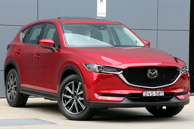 Used Mazda CX-5 KF4WLA Akera SKYACTIV-Drive i-ACTIV AWD, 2018 Mazda CX-5 KF4WLA Akera SKYACTIV-Drive i-ACTIV AWD Soul Red Crystal 6 Speed Sports Automatic