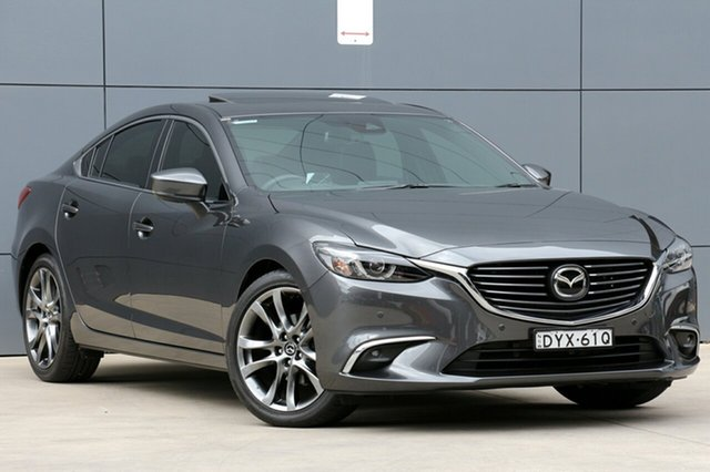 Used Mazda 6 GL1031 Atenza SKYACTIV-Drive, 2017 Mazda 6 GL1031 Atenza SKYACTIV-Drive Grey 6 Speed Sports Automatic Sedan