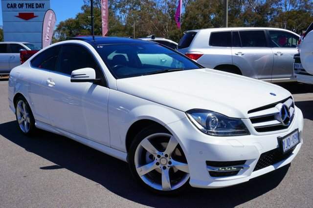Used Mercedes-Benz C180 C204 MY13 7G-Tronic +, 2013 Mercedes-Benz C180 C204 MY13 7G-Tronic + White 7 Speed Sports Automatic Coupe
