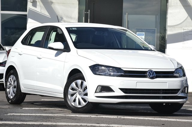New Volkswagen Polo AW MY18 70TSI Trendline, 2018 Volkswagen Polo AW MY18 70TSI Trendline Pure White 5 Speed Manual Hatchback