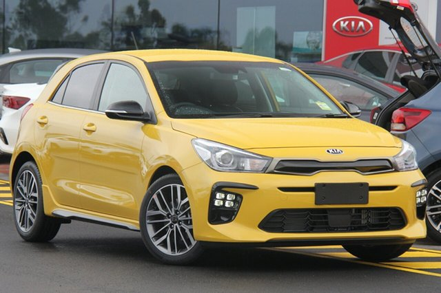 New Kia Rio YB MY20 GT-Line DCT, 2019 Kia Rio YB MY20 GT-Line DCT Mighty Yellow 7 Speed Sports Automatic Dual Clutch Hatchback