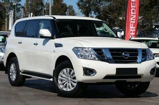 2019 Nissan Patrol Y62 Series 4 TI Ivory Pearl 7 Speed Sports Automatic Wagon.