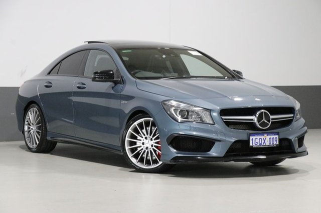 Used Mercedes-Benz CLA45 117 AMG, 2014 Mercedes-Benz CLA45 117 AMG Blue 7 Speed Automatic Coupe